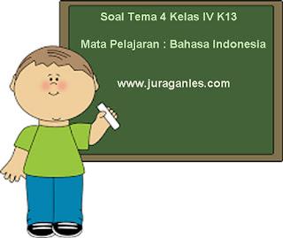 Contoh Soal Tema 4 Kelas 4 SD/MI K13 Mata Pelajaran Bahasa Indonesia