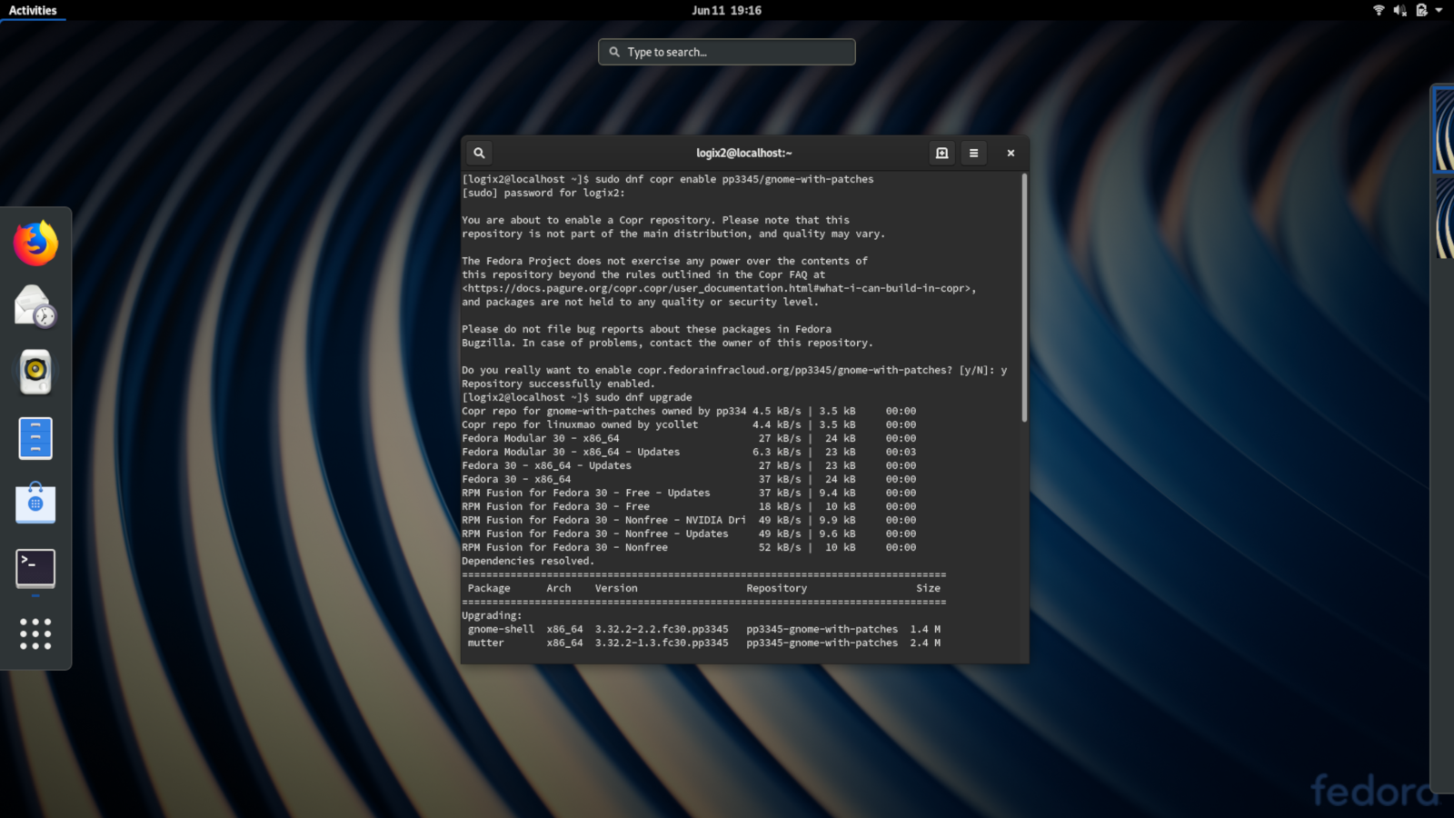 Speed Up Gnome Shell On Fedora 30 Using This Copr Repository