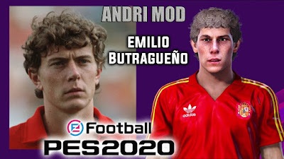 PES 2020 Faces Emilio Butragueño by Andri Mod