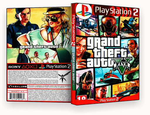 CAPA DVD – Grand The FT Auto 5 PS2 – ISO