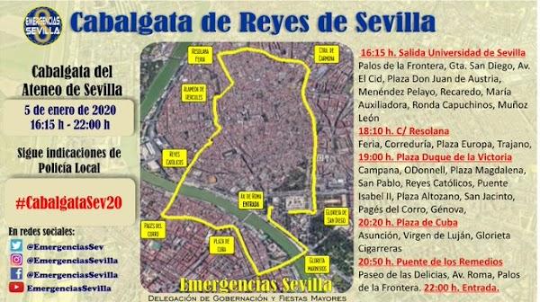 Horario e Itinerario Cabalgata de Reyes de Sevilla 2020