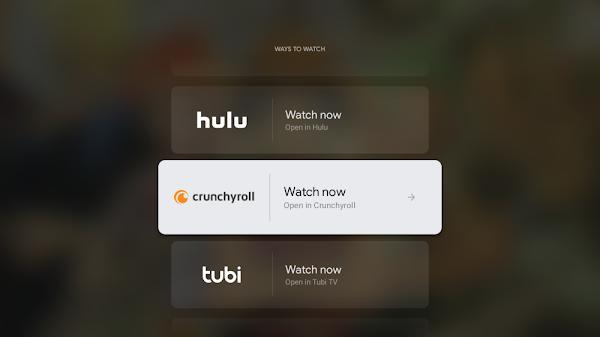 Google TV adiciona Crunchyroll