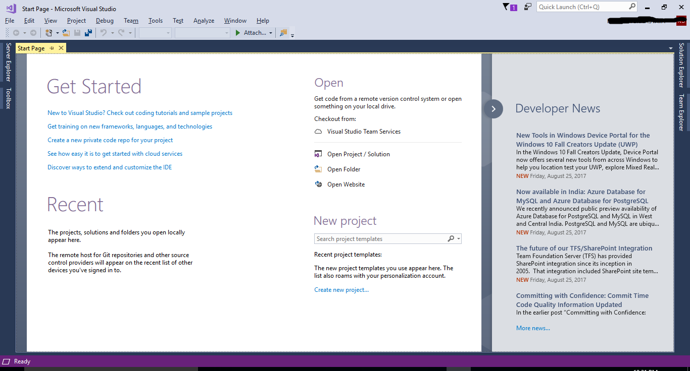 Introduction to Visual Studio 2017
