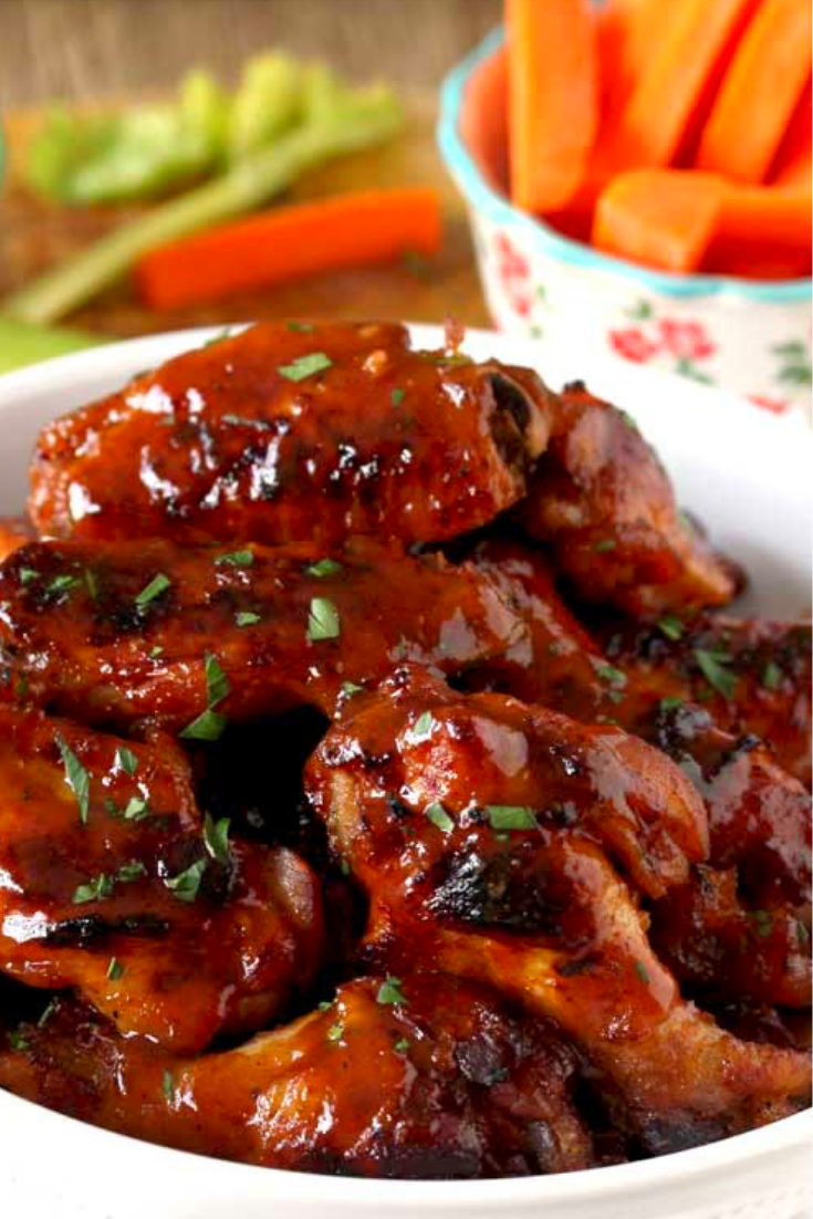 SLOW COOKER CHICKEN WINGS BBQ HONEY