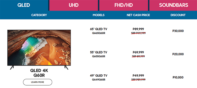 Customers get up to PHP 30,000 off on Samsung QLED TVs