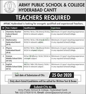 Army-Public-School-&-College-Hyderabad-Jobs
