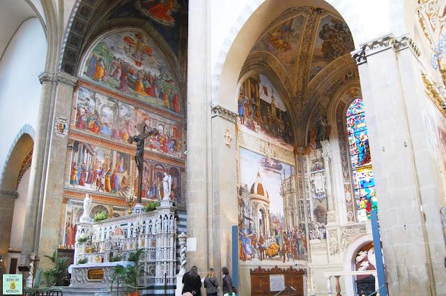 Capilla Tornabuoni en Santa Maria Novella de Florencia