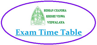 BCKV Exam Time Table 2020