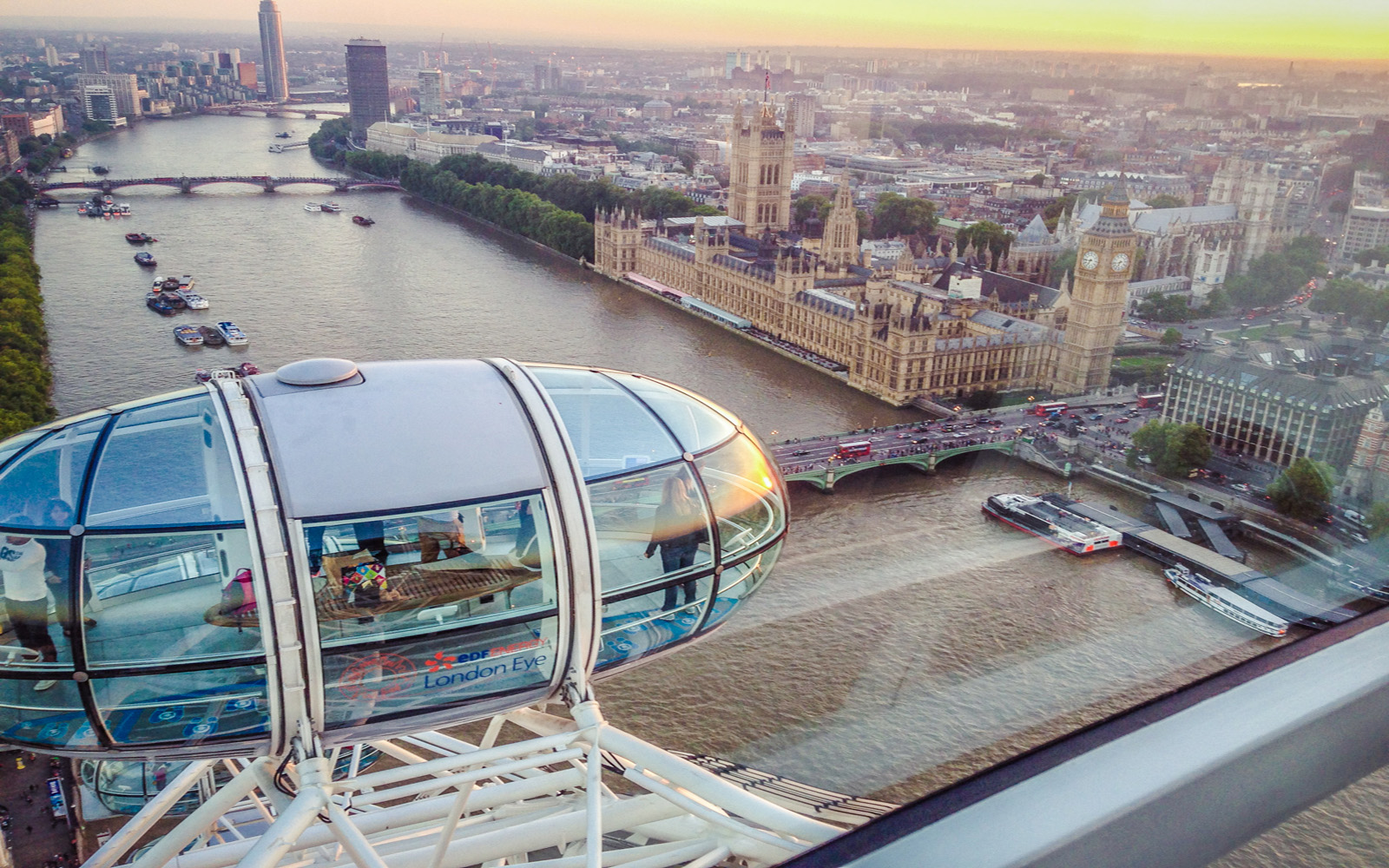 Parliament houses from london eye