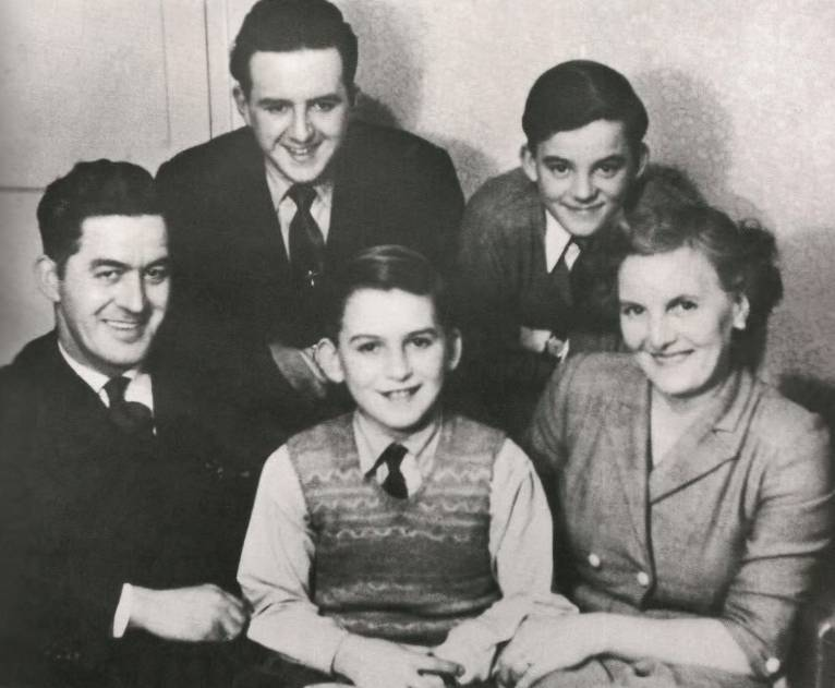 George Age 8 In 1951 Is Front And Center Above Flanked By His Parents Harold Louise Brothers Left 17 Better Known As Harry