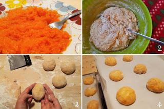 preparazione ricetta panini dolci alla zucca