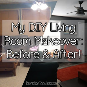 Runs For Cookies Living Room Makeover Before And After Photos