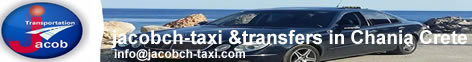 Jacob chania transfers by Mini Wan & Taxi Cab