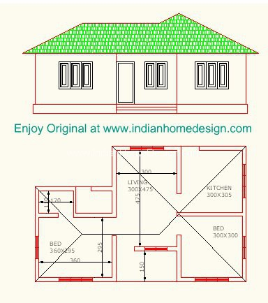 Indian Style Two Bedroom House Plans House Design Ideas