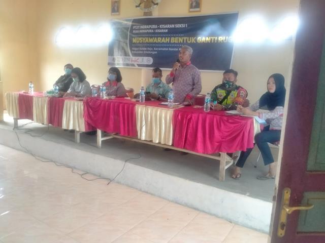 Personel Jajaran Kodim 0207/Simalungun Hadiri Musyawarah Pengadaan Tanah Jalan Tol DIwilayah Binaan