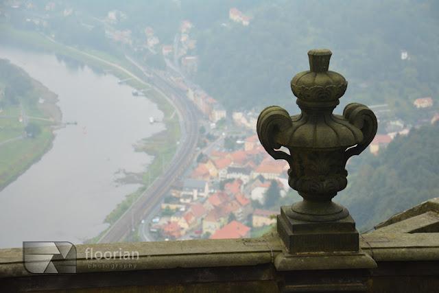 Saksonia na Weekend - atrakcje turystyczne Szwajcarii Saksońskiej - widok na rzekę Łabę z twierdzy Königstein