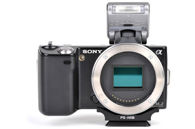 Sunwayfoto PS-N5 on SONY NEX-5 front