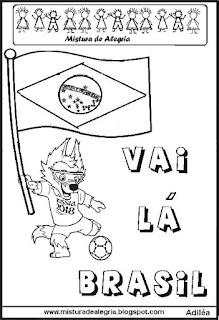 Desenho copa mundial 2018 seleção brasileira