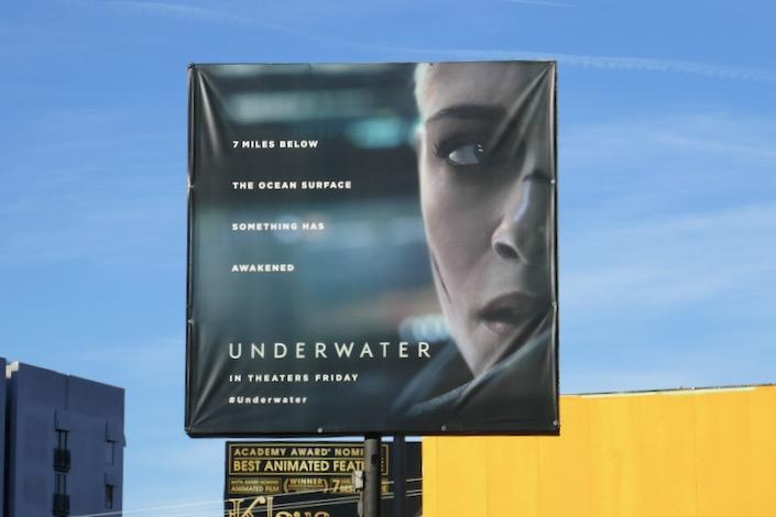 Underwater movie billboard