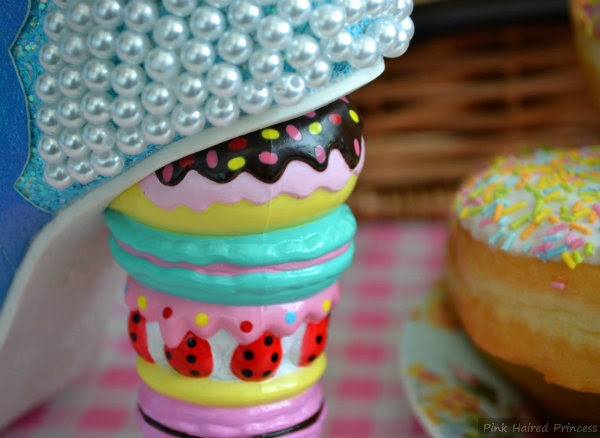 Irregular Choice macaron, doughnut and tart concept heel detail