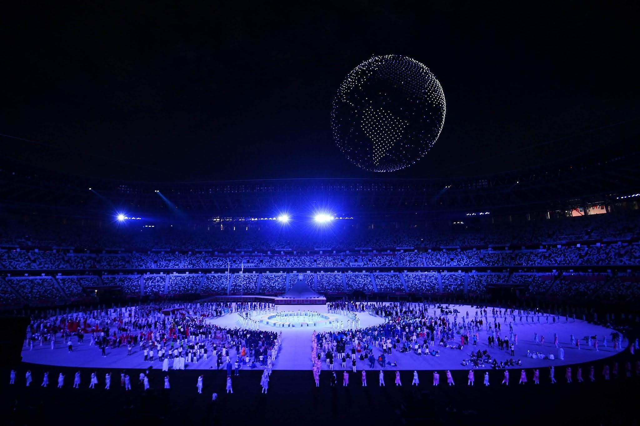 VIDEO: Mas de 1800 drones brindaron un espectáculo único en la ceremonia de apertura de los Juegos Olímpicos Tokyo 2020