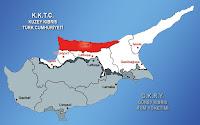 Kıbrıs haritasında Girne ilçesinin gösterimi