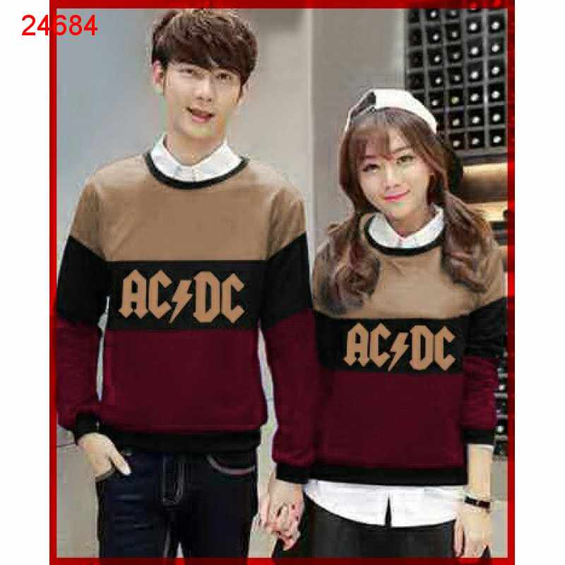 Jual Sweater Couple Sweater ACDC Tridente Mocha - 24684