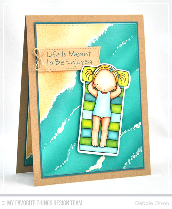 Handmade card from Debbie Olson featuring Pure Innocence Fun in the Sun stamp set and Die-namics #mftstamps