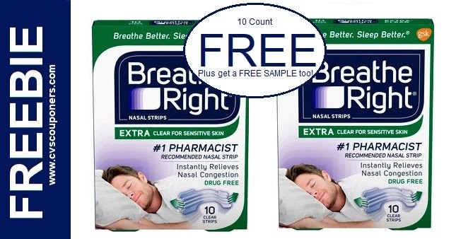 FREE Breathe Right Nasal Strips at CVS