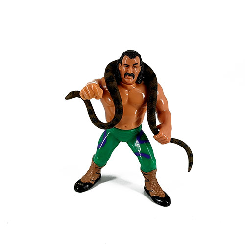 Figura Presing Catch WWF Snake el sepriente 1990