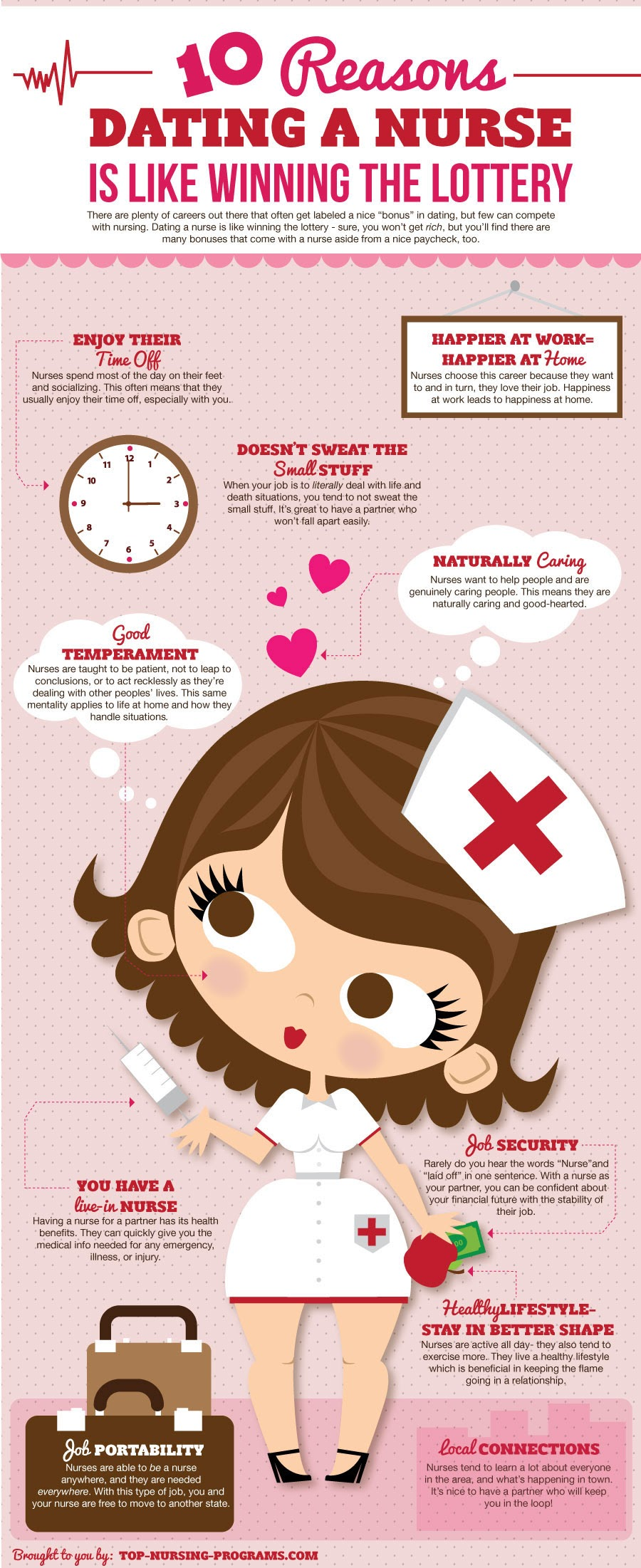 10-Reasons-Why-Dating-A-Nurse-Is-Like-Winning-The-Lottery  #Infographic