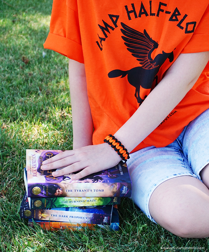 Trials of Apollo Books with Camp Halfblood Paracord Bracelet