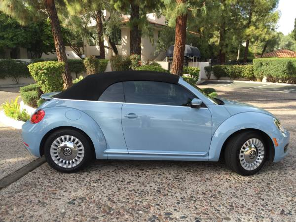 used 2013 vw blue beetle convertible by owner. Black Bedroom Furniture Sets. Home Design Ideas