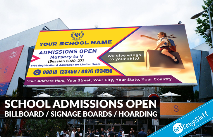 1998 Business School Education Admissions Open Billboard / signage boards / Hoarding