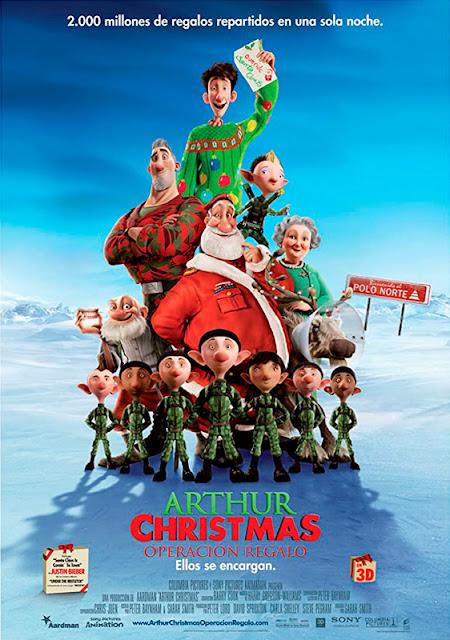 Cartel de la película de animación Arthur Christmas, Operación Navidad
