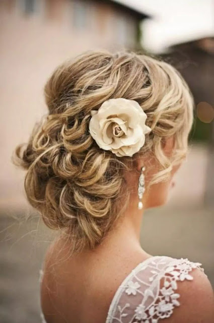 curly updo for weddings