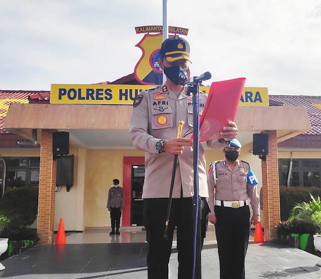 Kapolres HSU AKBP Afri Darmawan SIK Ajak Anggota Berjiwa Bangga Dan Viralkan Keindahan Indonesia