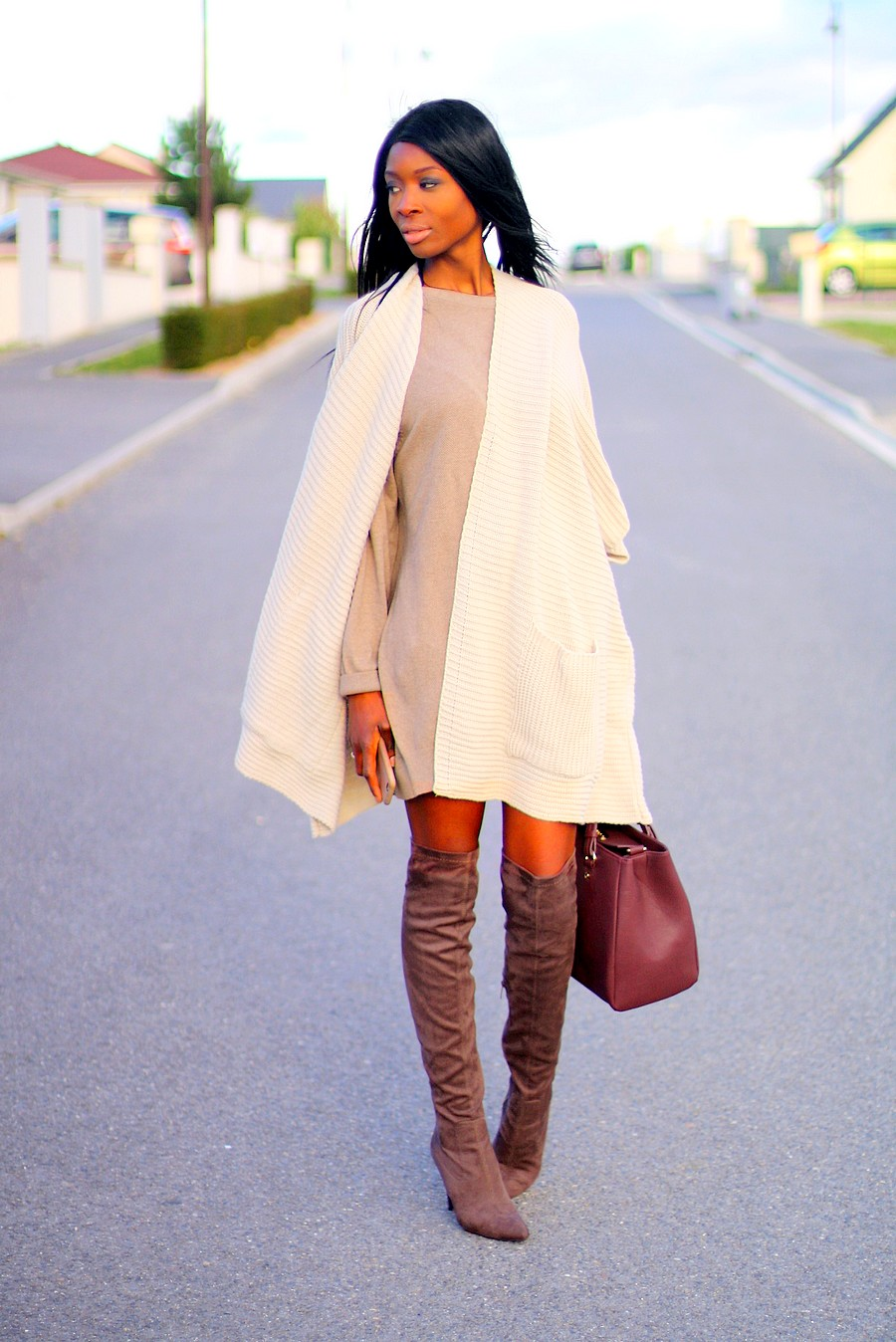 Robe pull et cuissardes