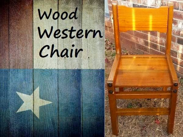 Rustic Wood Chair w/ Exposed Bolts (Oklahoma City Craigslist Garage Sales OKC