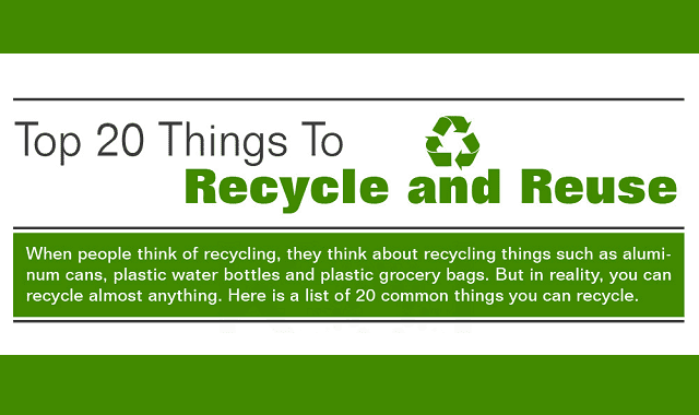 Image: Top 20 Things to Recycle and Reuse