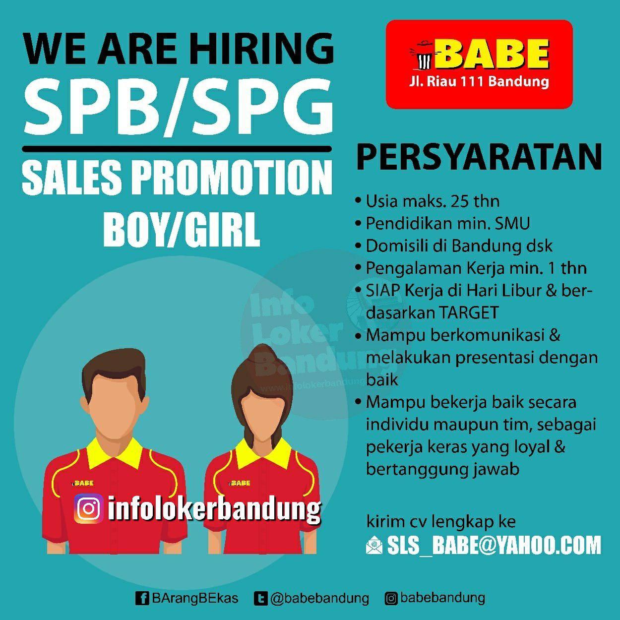 Lowongan Kerja Babe ( Barang Bekas) Bandung Oktober 2019