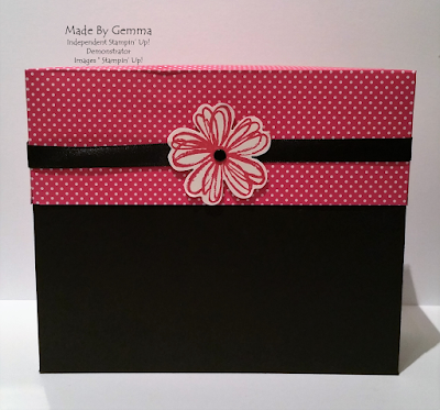 pop of pink stationery box Stampin'Up!