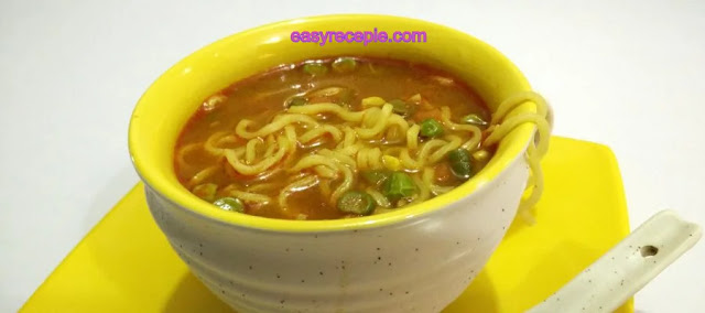 Delicious and Healthy Maggi vegetable soup recipe at home