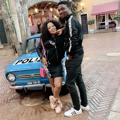 Seyi Edun and Adeniyi Johnson loved up on holiday in South Africa