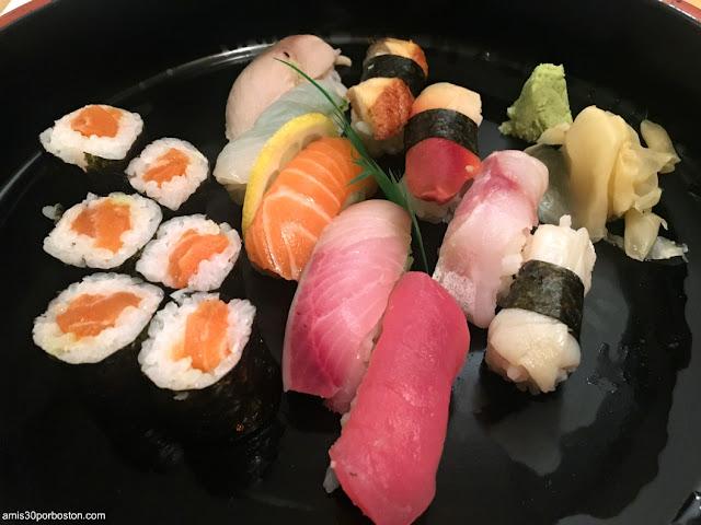 Sushi del Toraya en Arlington, Massachusetts