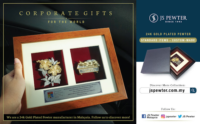 Premium Corporate Gifts: Corporate Gifts Award Plaque Malaysia (JS Pewter): Premium