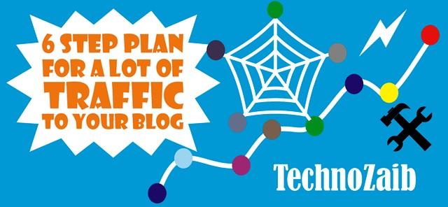 6 step plan for a lot of traffic to your blog