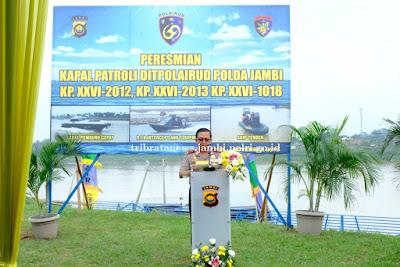 Resmikan Tiga Kapal Patroli, Kapolda Jambi : Peningkatan Pelayanan Harus Ditingkatkan