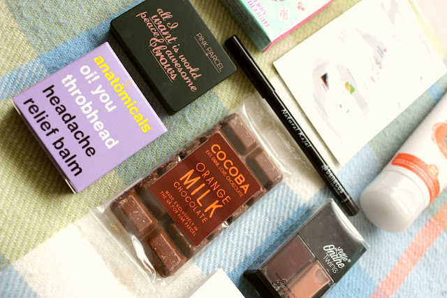 pink parcel subscription box products review