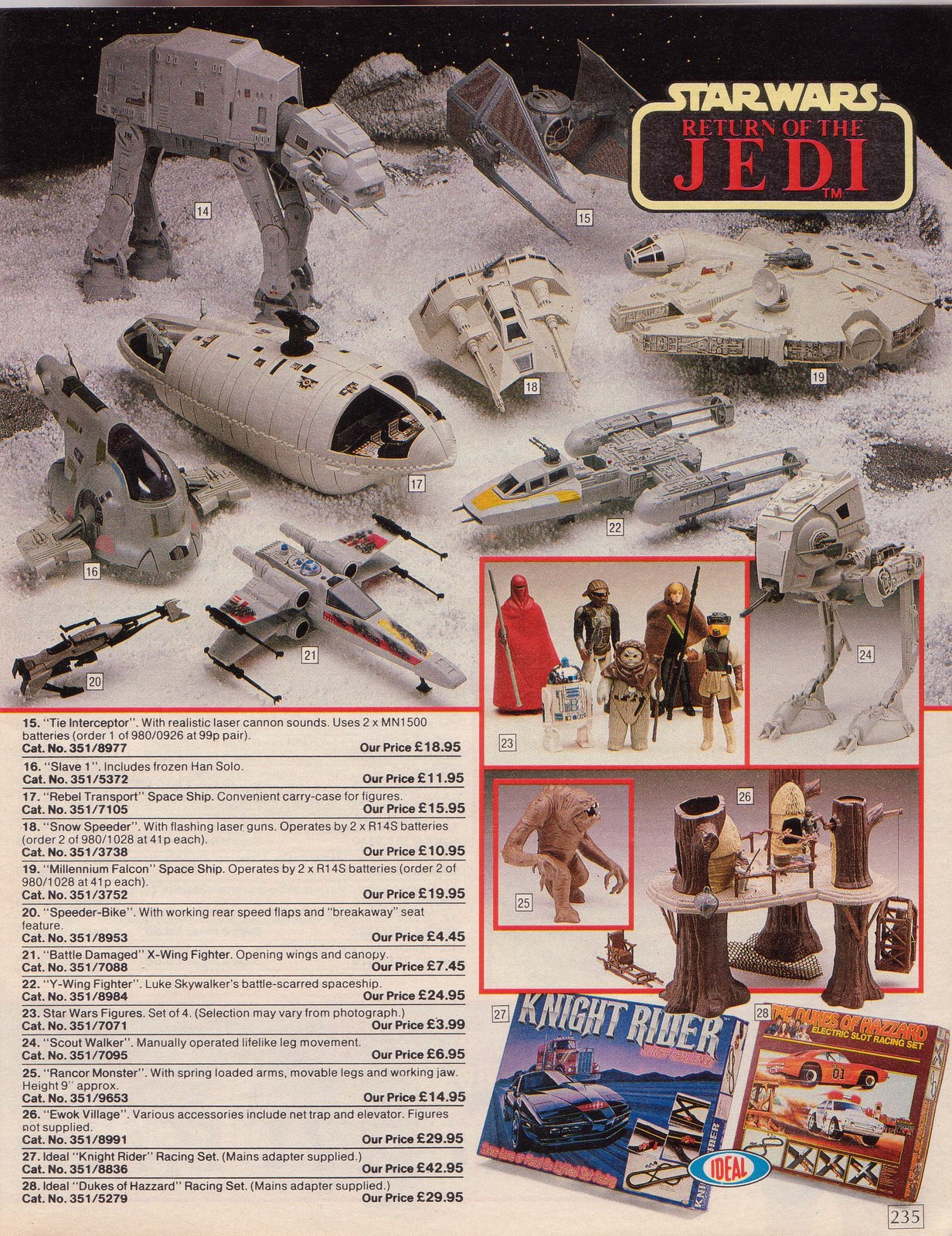 uk argos catalogues from 1984 1985 advertising star wars toys. Black Bedroom Furniture Sets. Home Design Ideas